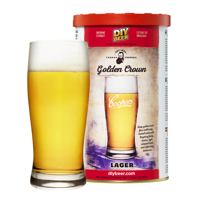 Coopers Golden Crown Lager (1.7kg)